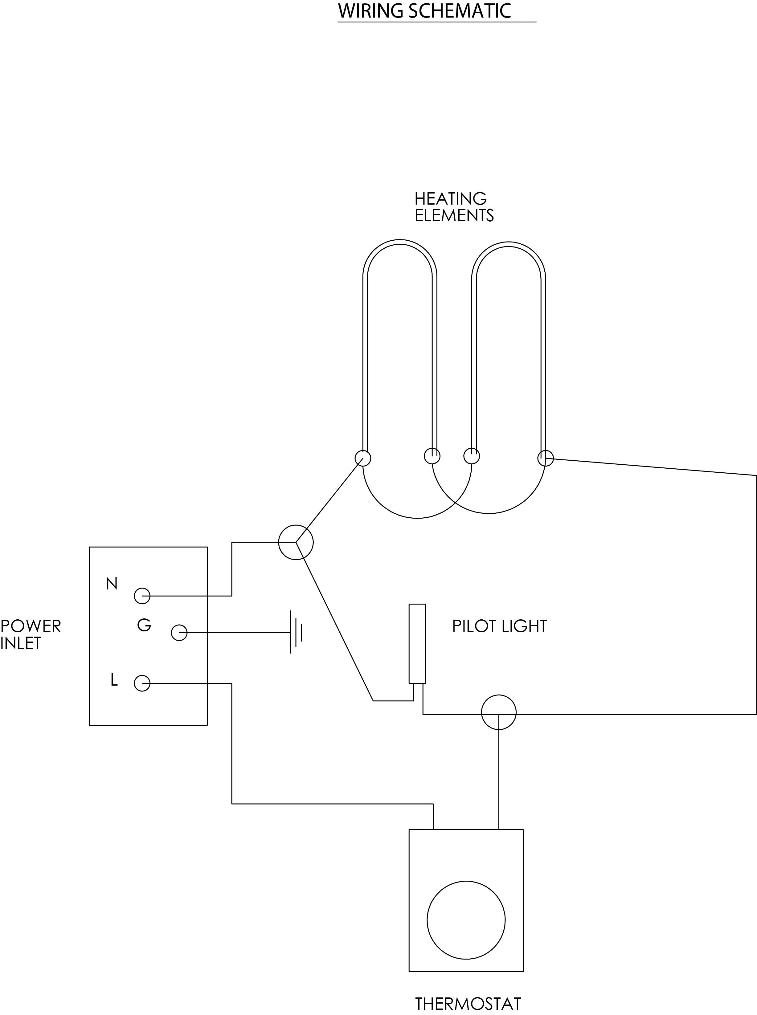 240v wiring diagram baking element