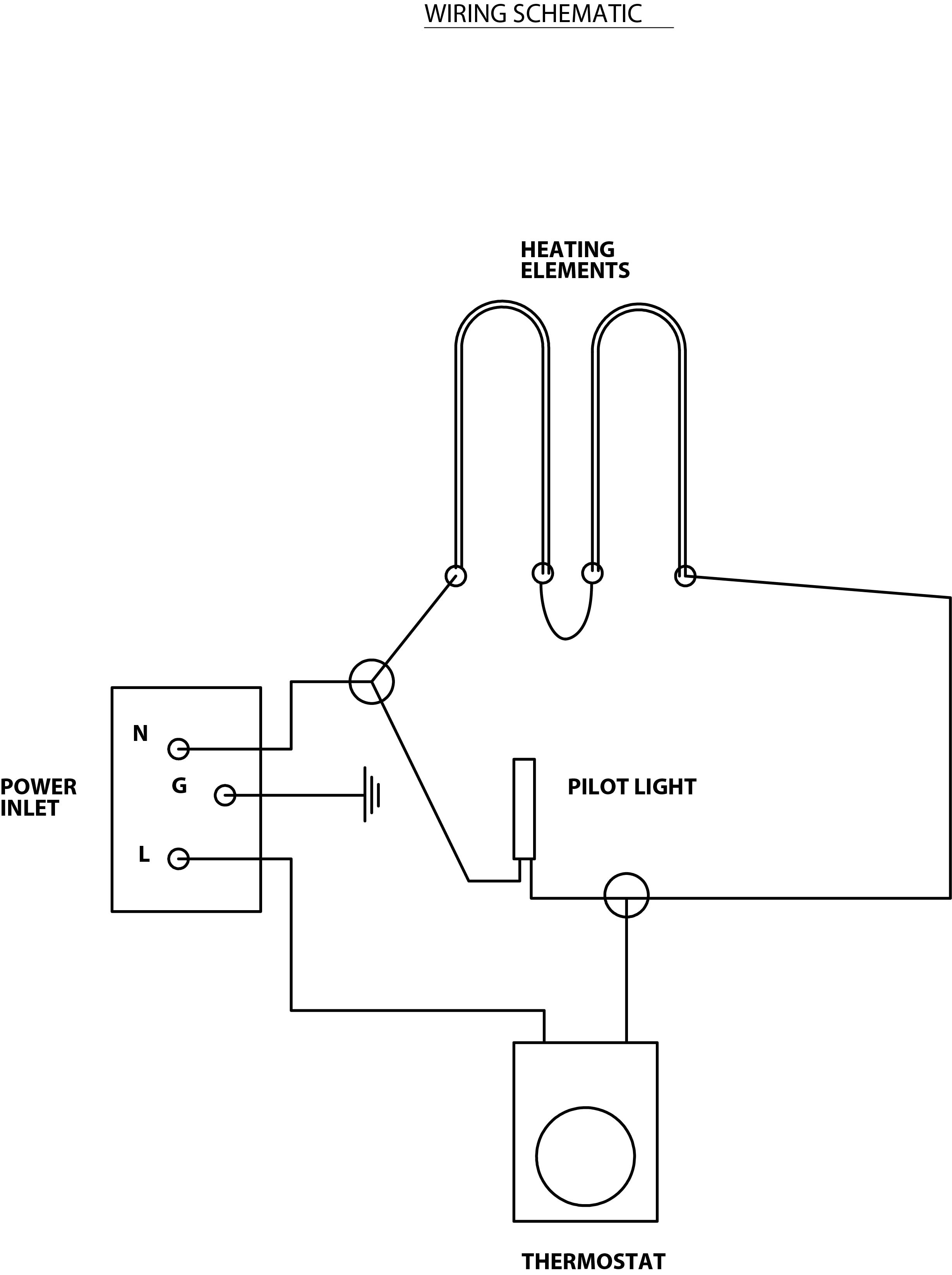 Basic Oven Wiring Diagram Schemes 3 Wire Range Schematic Type 4 Drywire Phoenix International Wall Heater Thermostat